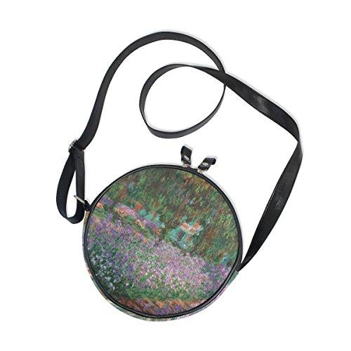 Ahomy Messenger Bags Monet Garden - Bolso de lona para mujer