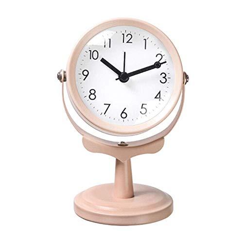 HLL Reloj Despertador, Reloj Nuevo Mesa de Escritorio de Escritorio Tabla de Vivienda Small Escritorio Aumible de Autamento Silencia Silent Non-Ticking Decoración Personalizada Nordic Modern Modern S