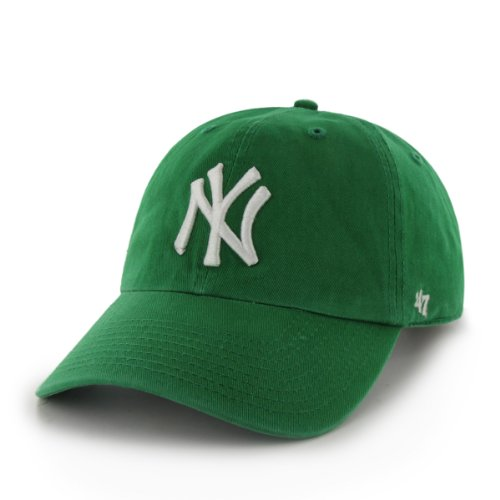 New York Yankees 47 Brand MLB Clean Up Adjustable Hat Chapeau - Green