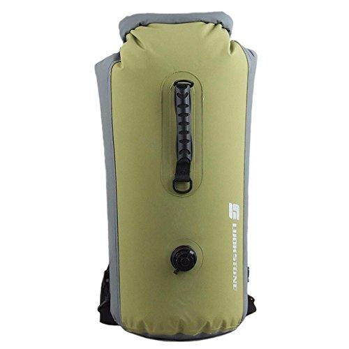 YOGOGO 35L/60L 防水アウトドアードライバッグ ドライチューブ 袋 バッグ 濡れ物入れ サーフィン ダイビング ウェットスーツ ウォータープロテクトバッグ (60L, Green)