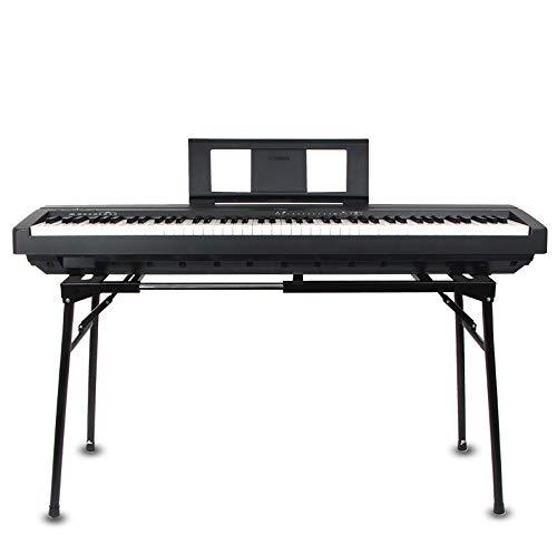 AKOZLIN 折畳み式のピアノ キーボードスタンド 61/73/76/88鍵の鍵盤に対応 幅/高さの調整が可能 ピアノ台 折りたたみ スタンド 電子キーボード用 折畳み式の電子ピアノスタンド 楽器安定し電子オルガン ブラケット Keyboard Stan