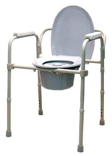 Silla con inodoro wc, elevador regulable en altura y con reposabrazos y respaldo