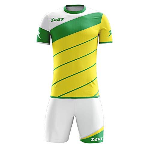 Zeus Kit Lybra Uomo Homme Football à Cinq Maillot Short pour Football Jaune Vert (M)