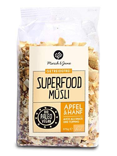 March&June Bio Superfood Müsli Apfel Hanf 375 gr