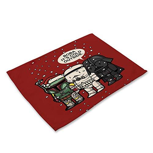 Jokerdmask Tisch Matte Rutschfester Rückseite Waschbare Platzsets Hitzebeständige Platzdeckchen Cartoon Geister Dreier 42 × 32Cm