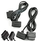 ZYAMY 2pcs SNES Controller Extension Cable 1.8 Meter/ 6ft for The Regular SNES
