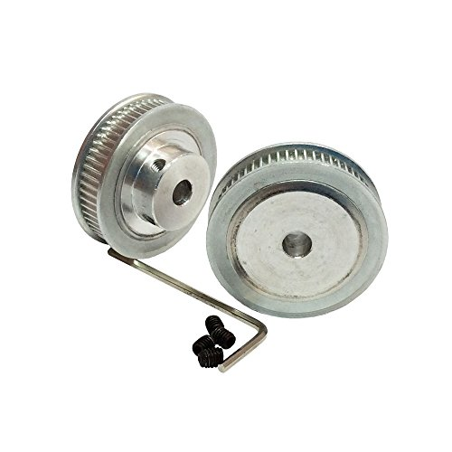 BEMONOC Pack of 2pcs 2GT Timing Pulleys 60 Teeth 8mm Bore for 3D Printer Parts