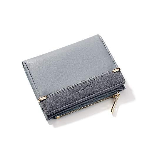NICOLE & DORIS Portefeuille Femme Portefeuille pour femme petit porte-monnaie Bi-fold Portefeuille Cuir PU Bleu