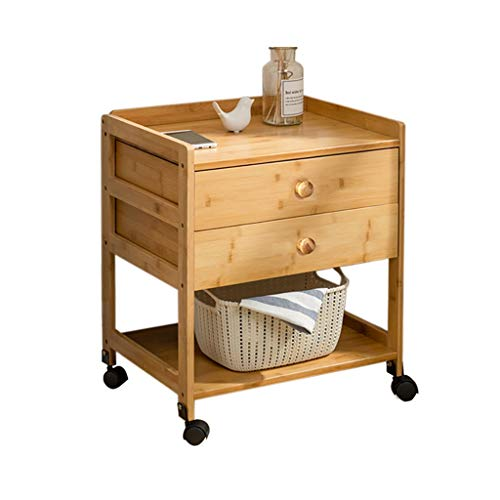 Côté d'angle quelques petites tables basses Meuble d'appoint Table de chevet pouvant se déplacer en bambou Salon nordique Table d'appoint (Couleur : D)