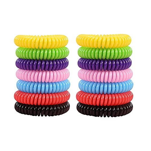 EVA Lente Muggenmelk Armband Citronella Repellent Polsband, Draagbare Waterdichte Muggenmelk Voet Ring,14pc
