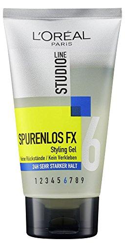 L'Oréal Paris Studio Line Spurenlos FX Styling Gel 24h Sehr Starker Halt, schont das Haar schon beim Styling, 150ml
