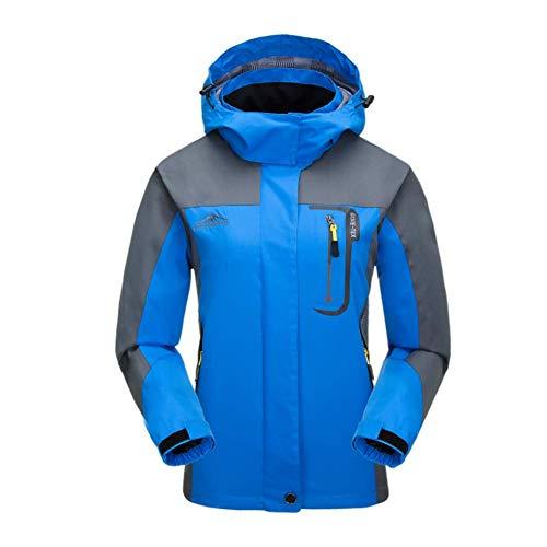 Bruce Lin Chaqueta impermeable, a prueba de viento caliente al aire libre impermeable con capucha para Mujeres Blue 01 XXL