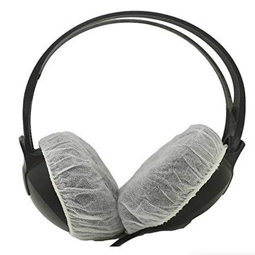 LINHUIPAD Hygiene-Ohrmuscheln, dehnbar, für die meisten Kopfhörer und Headsets in Standardgröße, 100 Stück, Weiß