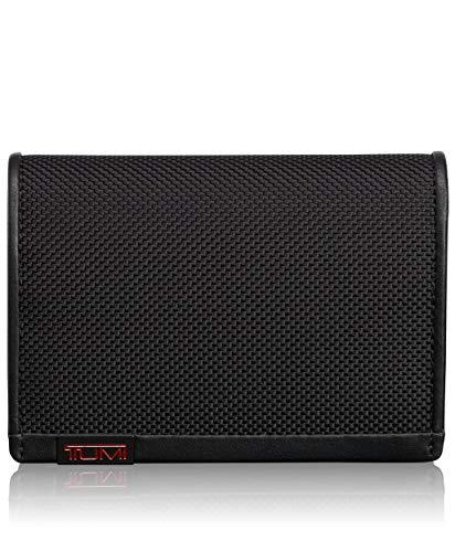 Tumi Durchläufer (NOS) Porta carte di credito, 11 cm, Nero (Black)
