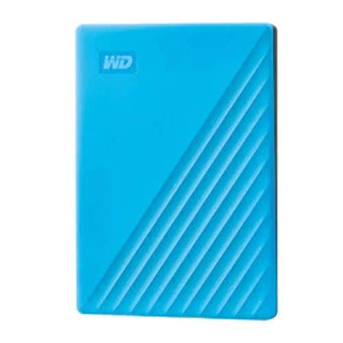 WD 4 TB My Passport disco duro portátil con protección con contraseña y software de copia de seguridad automática, Compatible con PC, Xbox y PS4, color Azul