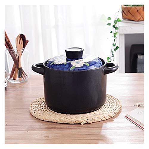Ykjspd Milchpfanne Hitzebeständige Auflauf Stein heißen Topf offene Flamme Keramik Suppe Stewpot Reismilch Eintopf Pfanne Herd Topf (Color : 3.5L Casserole)
