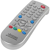 Vivanco Universal 2in1 TV/DVB - Mando a distancia universal para TV, plateado