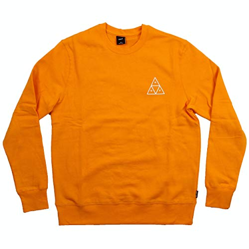 HUF - Essentials TT Crew Orange - Sudadera sin capucha
