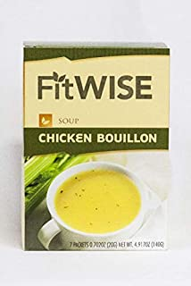 HealthWise Chicken Bouillon Soup for- Hunger Control - for Weight Loss- - Protein Supplement - (7 Packets of 0.71 Oz, Net 4.93 Oz.) - 15 Grams of Protein - 70 Calories