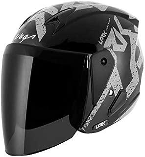 Vega Lark Victor Black Silver Helmet, M