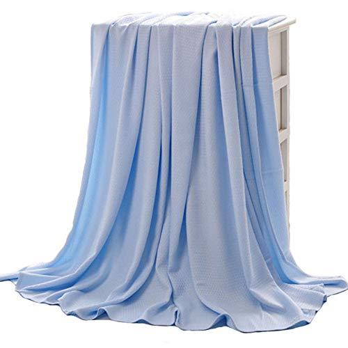 Bluestar coperta in bambù naturale, morbido e traspirante grande coperta/letto divano a 2posti, 150x 200 blu