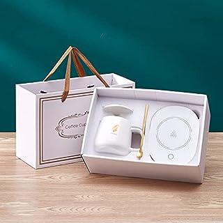 Orchid Ceramic Mug With Coaster, Spoon & Warmer   Coffee Mug/Cup Warmer   Warmer For Desk Office Home   Ceramics Mug Therm...