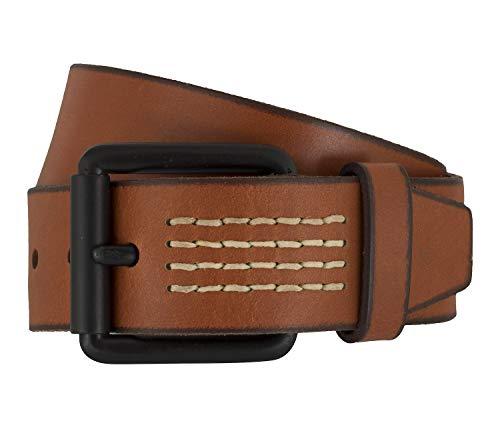 Timberland Gürtel Herrengürtel Ledergürtel Jeans Cognac 7427, Farbe:Braun, Länge:105