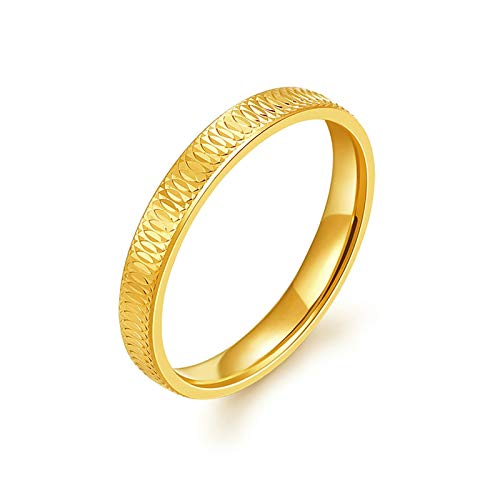 Aeici 18K Yellow Gold Ring Womens Rings Engagement Halo Promise Wedding Rings Gold Ring Size O 1/2