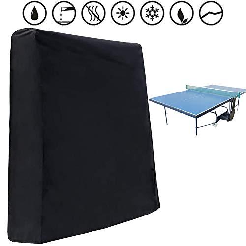 Zoom Premium tafeltennistafel, afdekhoes voor tafeltennistplaten met ritssluiting, Ping Pong beschermhoes water en UV-bestendig voor tuintafels en meubelsets 245 x 160 x 100 cm