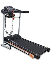 Skyland Unisex Adult Motorized Treadmill With Massager -EM-1267m- Grey/Black, L=138X W=72 X H=121 cm.