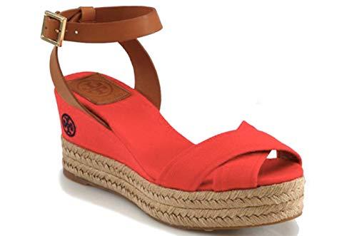 [Tory Burch] [トリー バーチ] KARISSA WEDGE ESPADRILLES レディース エスパドリーユ ウェッジ サンダル Ladies Sandals in Red US6.5 (23.5cm) [並行輸入品]