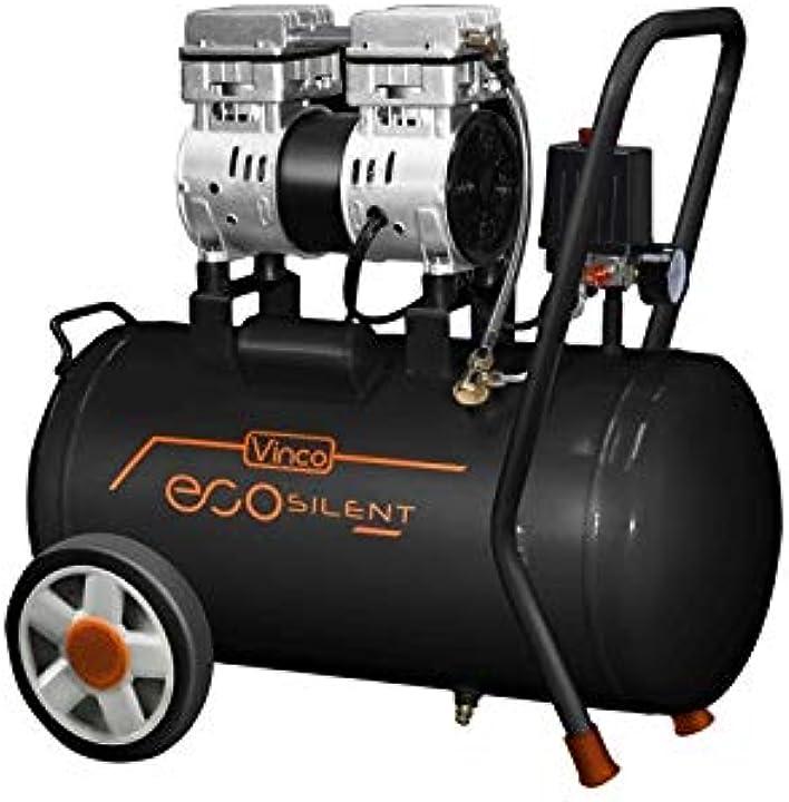 Compressore d`ara silenziato lt 50 hp 1 db 59 lt/min 110 vinco B07MZY7KGQ