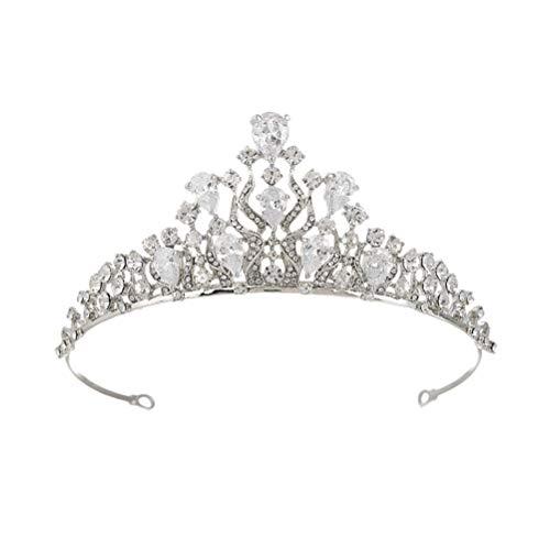 Lurrose - Tiara de circonita para mujer, boda, novia, reina o corona,...