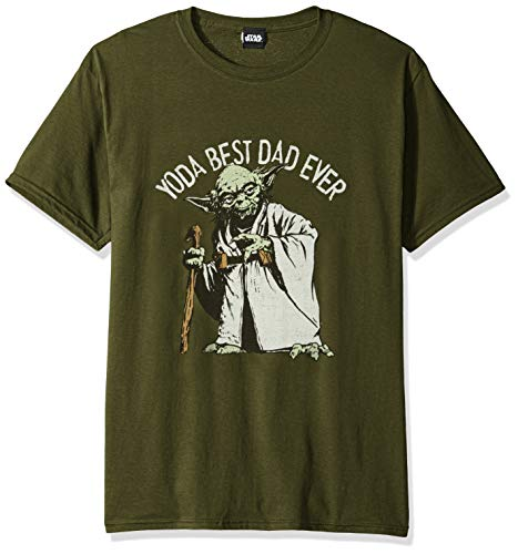 Star Wars Men's Officially Licensed Tees, Green//Green Dad, x-Large