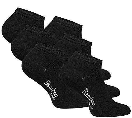 Vincent Creation 6 Paar BAMBUS Sneaker Socken ANTIBAKTERIELL, Unisex, (schwarz)