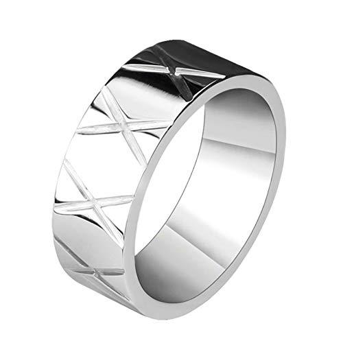 SonMo Ring Männer Edelstahl Garten-Schädel Totenkopfx Edelstahlring Herren Breit Bandring Herren Silber Totenkopf Ring Gothic Größe 54 (17.2)