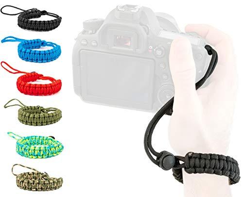 Lens-Aid Handschlaufe für Kamera: Paracord Kordel Wrist-Band Kameragurt zum Tragen am Handgelenk DSLR Tragegurt