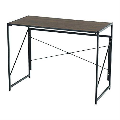 Lzet Mesa auxiliar portátil con altura para ordenador portátil, mesita de noche, mesa de sofá, color marrón