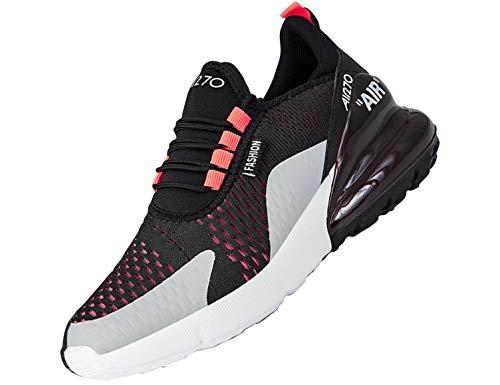 SINOES 270 Zapatillas de Deportivos de Running para Mujer Gimnasia Ligero Sneakers Negro Azul Gris Blanco