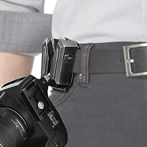 Lynca Holster-Clip - 100% Metall, äußerst robust und sicher - Kamera Halter Clip für Gürtel und Rucksack.