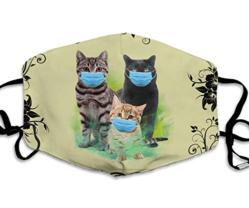Cats with Face Mask 2020 Quarantined The year when sh#t got real Face Mast gift for cat mom cat Dad Cat lover Face Mask