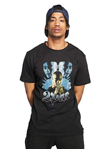 Mister Tee Herren Tupac Heaven Tee T-Shirt, Black, L