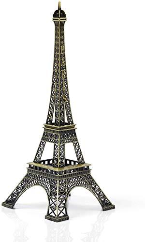 TOMYEER Figura de Torre Eiffel de París con diseño de torre Eiffel de metal, ideal para decoración del hogar, recuerdo de viaje, regalo de arte