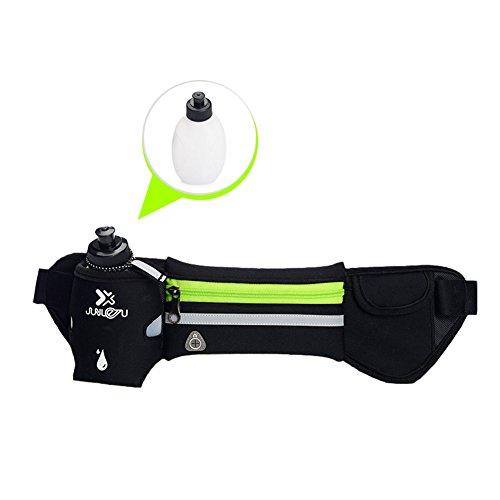 Correr Cinturón de hidratación cinturón cintura cinturón cintura bolsa con una botella de agua, para ejercicio gimnasio Fitness Ciclismo Senderismo, apto para la mayoría de los Smartphones