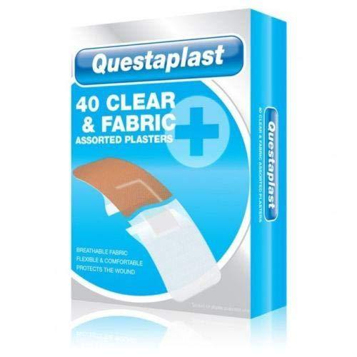 Questaplast - 40 x Verschillende transparante stoffen pleisters