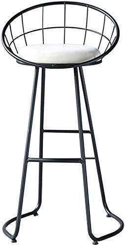 NJ barkruk barkruk keuken hoogte stoelen velours beklede zitplaats bistro eetkamer voetensteun Pub barstools ontbijt met metalen ligstoel (zithoogte 17,7 tot 29,5 cm 75cm(29.5 Inch)