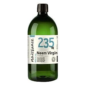Naissance Aceite Vegetal de Neem Virgen BIO n. º 235 – 1 Litro - Puro, natural, certificado ecológico, prensado en frío, vegano y no OGM.