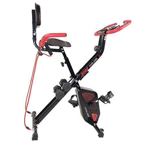 EVOLAND Fitness Heimtrainer, Heimtrainer Bikes Standfahrrad, Fitnessstudio Fahrrad Heimtrainer Aerobic Fitness Trainingsgeräte Fitnessbikes, 120kg Kapazität