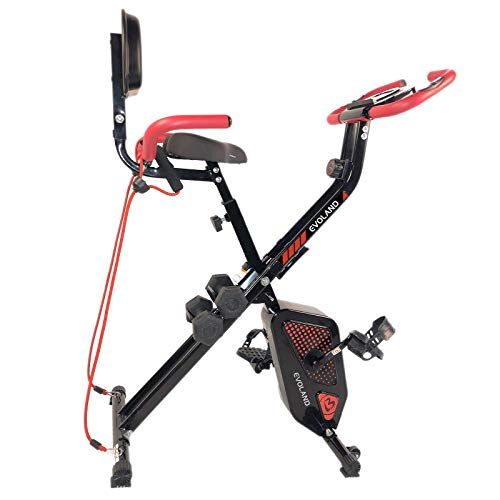 EVOLAND Bicicleta estática Plegable, Bicicleta estática co
