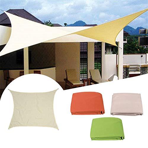 Gazebo Parasole Sail Cloth shadecloth baldacchino Patio Coperchio Quadrato Blocco UV Padiglione (Colore : Verde, Size : 3m x 3m)